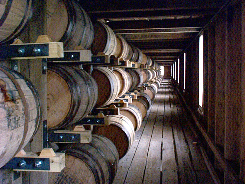 Barrel Room at the Jack Daniels Distillery