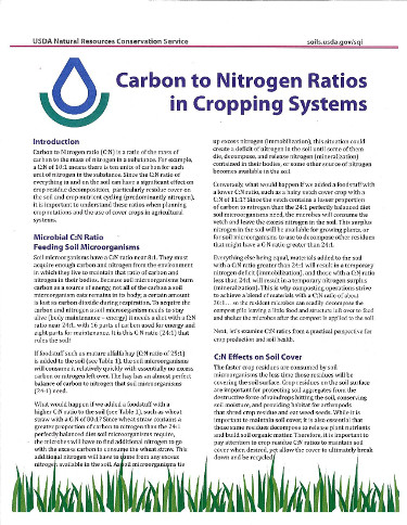 Carbon Nitrogen Ration